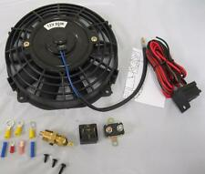 "7"" Inch Universal Electric Radiator Cooling Fan + Thermostat Relay Install Kit"