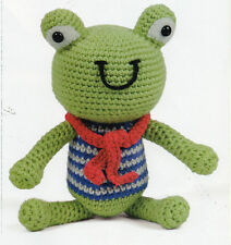 ~ Pull-Out Crochet Pattern For Cute Little Amigurumi Frog To Crochet ~