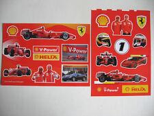 2 planches autocollants FERRARI F1 shell 2008 raikkonen massa formula 1 stickers