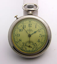Scarce 16 Size Pastor Stop Watch - Sterling Watch Co. (Ingraham) Running, Nice
