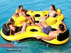 4-Person Floating Island Inflatable Durable Ocean River Lake Pool Rafting Lounge