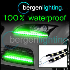 2X 500MM GREEN EXTERIOR HEADLAMP/BUMPER 12V SMD5050 DRL MOOD LIGHTING STRIPS