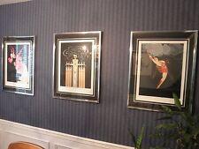 """ERTE """"At The Theatre"""" Suite of 5 MATCHED #'d Framed Serigraphs Symphony n Black"""