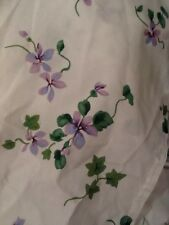 Vintage 1990s Violet Bed Sheet & Pillowcases White Purple Floral EUC Cottage Ivy