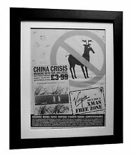 China Crisis+Working Fire Steel+POSTER+AD+ORIGINAL 1983+FRAMED+FAST GLOBAL SHIP