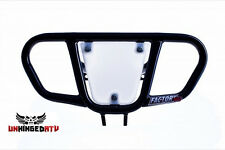 Factory 43 Honda TRX 450R BLACK!! Front Bumper with Number Plate!