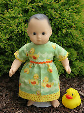 "Handmade Clothes for/fits AG Bitty Baby or Twins Doll - ""Quack"" Duck Dress Set"