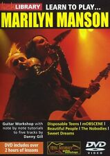 LICK LIBRARY Learn to Play MARILYN MANSON Disposable Teens ROCK METAL Guitar DVD