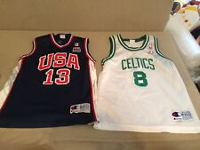 USA Olympic Team Basketball Jersey Youth Medium 10-12 Celtics Pierce Duncan Vtg
