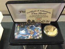 Drew Bledsoe Highland Mint  24kt Gold Mint Coin a Phone card combo 24kt plated