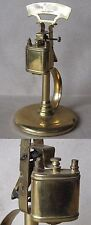 OLD GLOSSY BRASS TABLE PETROL CIGARETTE LIGHTER / FUNCTIONAL