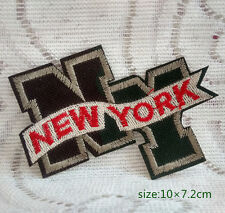 New York NY Camouflage Embroidered Cloth Iron On Sew Patch Applique Badge