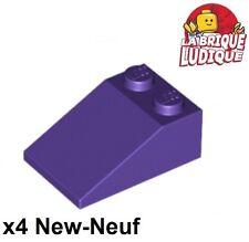 Lego - 4x slope brique pente inclinée 33 3x2 violet foncé/dark purple 3298 NEUF