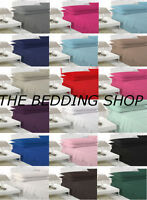 New Polycotton Single Double King Superking Pillow case and Fitted Sheets