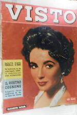 VISTO Agosto 1957 Elizabeth Taylor Curzio Malaparte Marisa Del Frate Delacroix