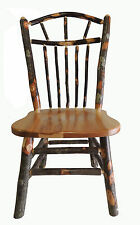 Amish Rustic Hickory Wagan Wheel Spindle Back Kitchen Chair
