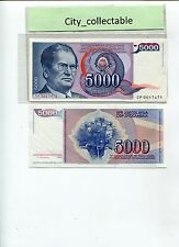 WORLD BANK NOTE - 1985 JUGOSLAVIJE 5000 UNC # B229