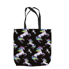 RAINBOW UNICORN DESIGN TOTE BAG SHOPPING L&S PRINTS GREAT GIFT IDEA