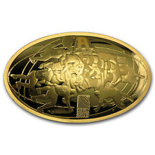 2015 France 1 oz Proof Gold €200 Rugby World Cup SKU #91910