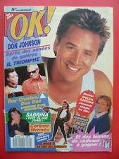 Magazine OK âge tendre n° 719  - 23 octobre 1989 - Cv. Don JOHNSON - COMPLET
