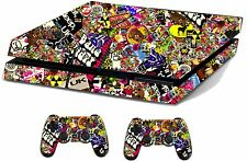 Sticker Bomb Sticker/Skin PS4 Playstation 4 Console & Remote controller,ps4sk3