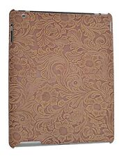 iPad 2 Snap on Cover Case Faux Tooled Leather
