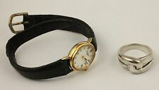 Vintage Rotary  ladies watch and heavy quality sterling silver ring lot