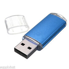 64GB USB FLASH DRIVE BLUE THUMB DRIVE MEMORY 2.0 NEW 64GB USA SELLER!