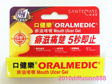 Oralmedic Mouth Ulcer Gel Treatment 1 Treatments Made in USA