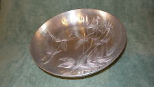 """Vintage 1950's Everlast Forged Aluminum SERVING BOWL, BAMBOO PATTERN, 10-1/2"""""""