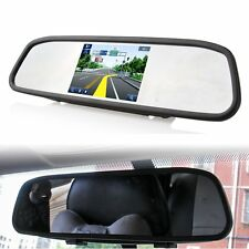 "4.3"" TFT LCD Rear View Monitor Mirror for Car Backup Reverse Camera System DVD"