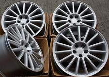 "18"" ALLOY WHEELS FITS AUDI A1 A3 VW GOLF MK4 POLO BEETLE FABIA IBIZA R32 A SIL"