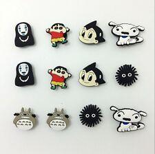 Japan Cartoon PVC Favour Shoe Charms for Bracelets/Bands/Croc/Jibbitz 12pcs