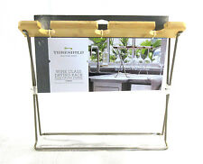 NEW Threshold Wine Glass Drying Rack Bamboo Foldable Kitchen Counter Top