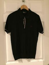 Para Hombres Camisa Polo Fred Perry Negro Talla M/Medio Rrp £ 55