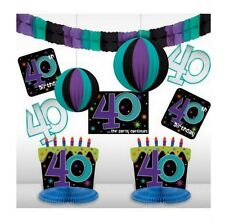 The Party Continues 40th Birthday Room Decorating Kit (10 Piece) - 249100