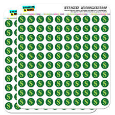 "Dollar Sign Money 0.5"" Scrapbooking Crafting Stickers"