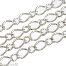 10M Link Chains Findings Silver Tone 6.5mmx4.5mm
