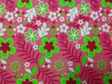 ~ FLANNEL ~JoAnn~ Quilting ~Fabric~Bright~Lime~Flower~ Flannelette ~Girls~ FQ~