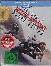 Blu-ray - MISSION IMPOSSIBLE - Rogue Nation - STEELBOOK + Bonus Disc - NEU & OVP