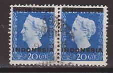 Indonesia Indonesie nr 2 pair paar used gestempeld Wilhelmina 1948 nr 352