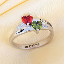 Personalized August Birthstone Rings Engraved Name Unique August Birthday Gifts