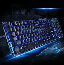 3Colors Illuminated Breathing light USB Wired PC Mechanical Gaming Keyboard