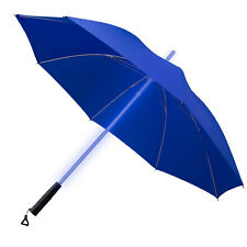 Light Sabre LED Multi Colour Changing Umbrella Built in LED Torch- Blue Canopy