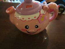 Fisher Price Laugh and Learn Talking Pink Teapot Sounds Works Cute Musical Pot
