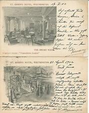 Lithos : St. Ermin's Hotel, Westminster: The Smoke Room & The Lounge aus 1902