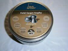 H&N FIELD TARGET TROPHY .22 CAL PELLETS 500 count 14.66 grains DOMED