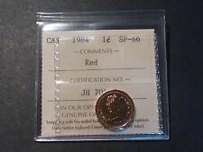 Canada 1-cent 1984 ICCS SP-66 Red