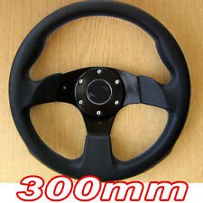 300mm Black Sports Steering Wheel for MAZDA MX5 323 626 MX6 MX3 RX7 RX4 Xedos