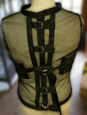 Mesh see through straight jacket 2XL restraint photography costume clear sexy